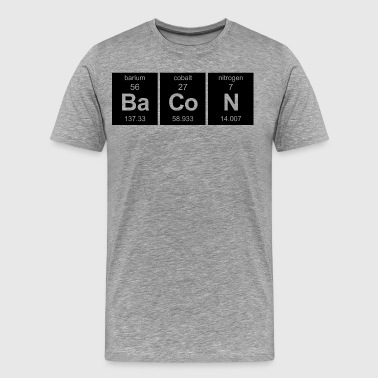 Bacon - Periodic Table - Men's Premium T-Shirt
