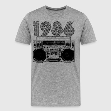Old School Tape 1986 Boombox - Men's Premium T-Shirt