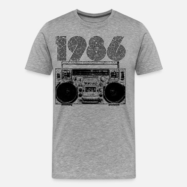 Hip Hop 1986 Boombox - Men's Premium T-Shirt