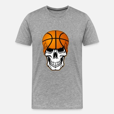 Skeleton Basketball basketball_skull - Men's Premium T-Shirt