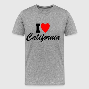 I Love California! - Men's Premium T-Shirt