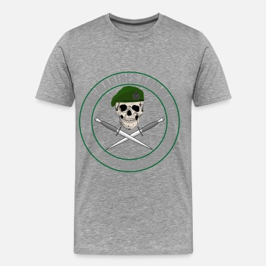 Royal Marines Commando RMC Skull - Men's Premium T-Shirt