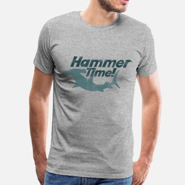 Fathers Day Hammer shark week time - Men's Premium T-Shirt