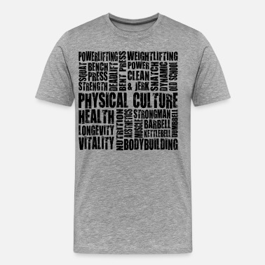 Physical-culture Physical Culture - Motivational Fitness Word Map - Men's Premium T-Shirt