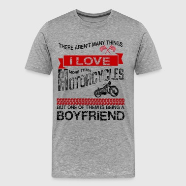 This Boyfriend Loves Motorcycles - Men's Premium T-Shirt