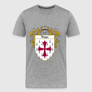 riggs_coat_of_arms_mantled - Men's Premium T-Shirt