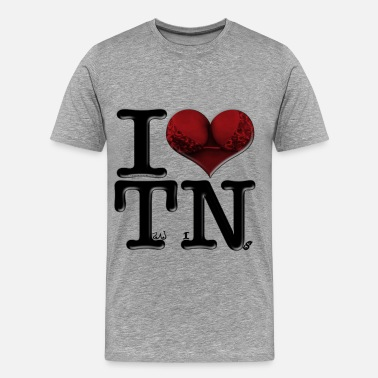 Breast Spelling I Love TN - TwiNs (for light-colored apparel) - Men's Premium T-Shirt