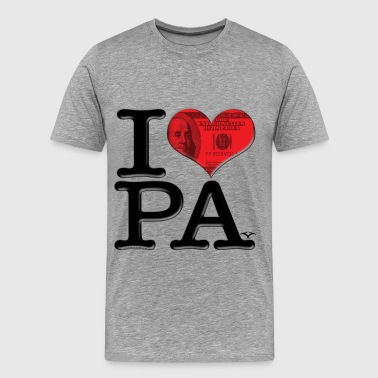 I Love PA - PAy (for light-colored apparel) - Men's Premium T-Shirt