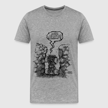 Ahh crap jeep in hole - Men's Premium T-Shirt