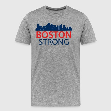 Boston Wicked Awesome Boston Strong - Skyline - Men's Premium T-Shirt