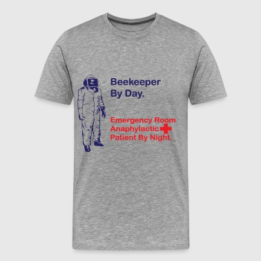 Beekeeper Funny Beekeeper-by-day - Men's Premium T-Shirt
