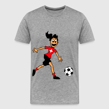 Swiss footballer - Men's Premium T-Shirt