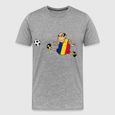 Romanian footballer - Men's Premium T-Shirt