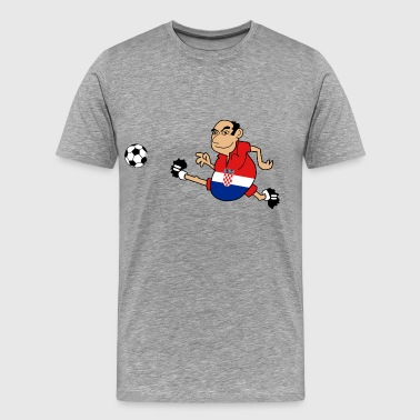 Croatian footballer - Men's Premium T-Shirt