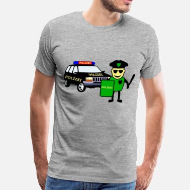 Police Officer & Police Car - Men's Premium T-Shirt