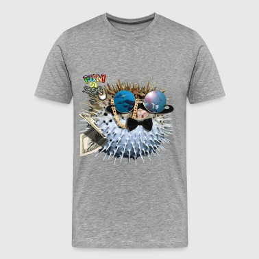 MR. BALLOON FISH ! (BLACK) - Men's Premium T-Shirt