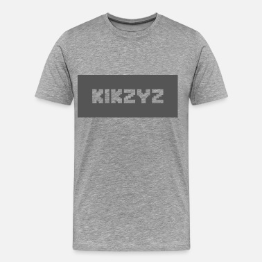 Blocky Kikzyz Clean Blocky Text T-shirt - Men's Premium T-Shirt