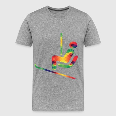 Colorful ski rider - Men's Premium T-Shirt