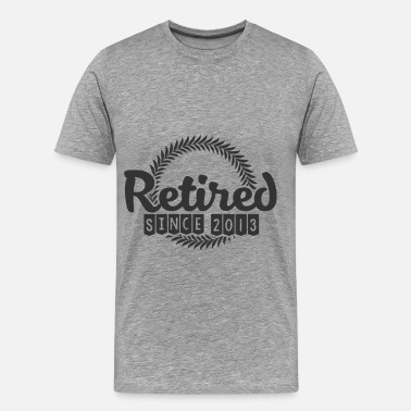 Retired Since 2013 2013 12.png - Men's Premium T-Shirt