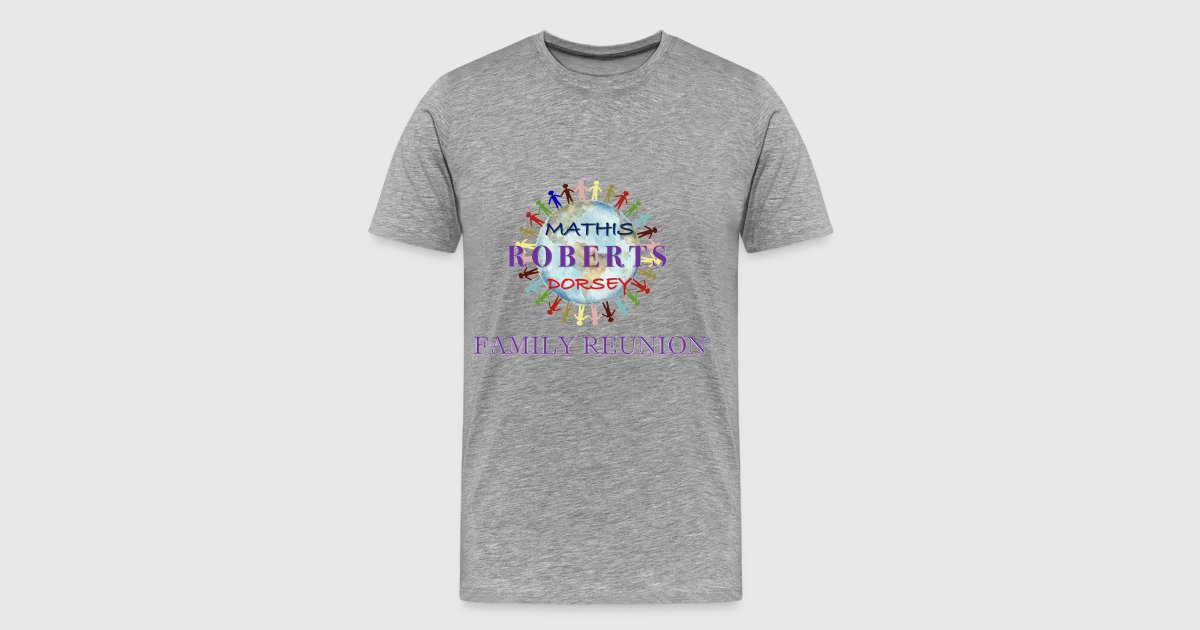 Big and tall family reunion shirt up to 5x by pepper pace for Design your own t shirt big and tall