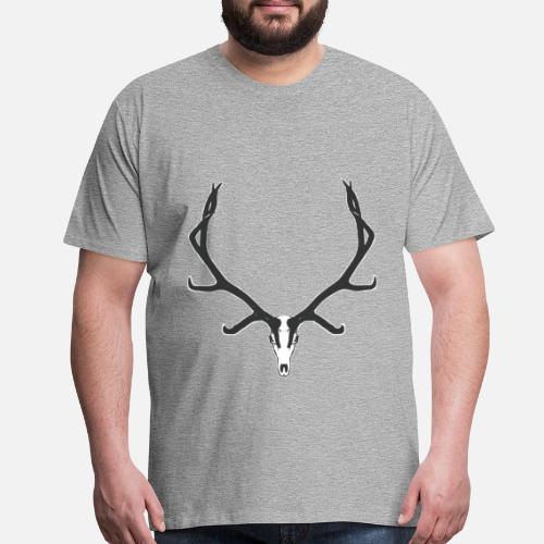 5379af95919a Bull elk skull European Men s Premium T-Shirt