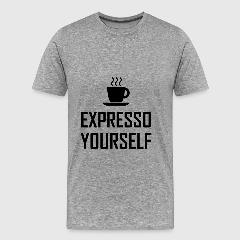 Express Yourself Espresso - Men's Premium T-Shirt