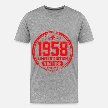 Vintage 1958 Limited Edition Genuine Original Parts 58 1 CCCC.png - Men's Premium T-Shirt
