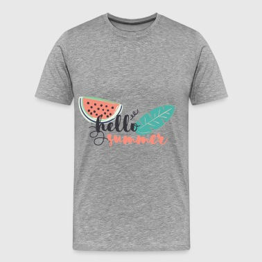 Summer - Hello summer - Men's Premium T-Shirt