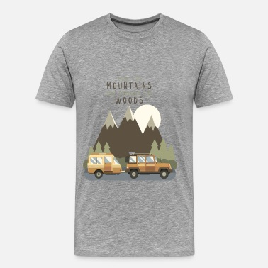 Explore Explore - Over the mountains and through the woods - Men's Premium T-Shirt