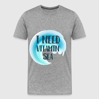 Summer - I need vitamin sea - Men's Premium T-Shirt