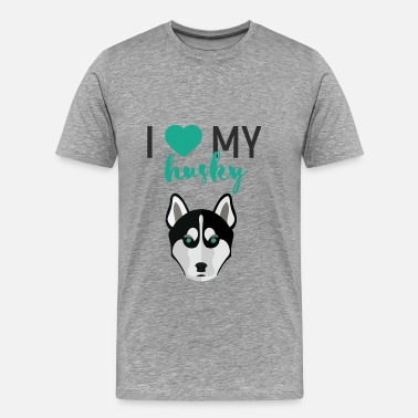 My Husky Husky - I love my husky - Men's Premium T-Shirt