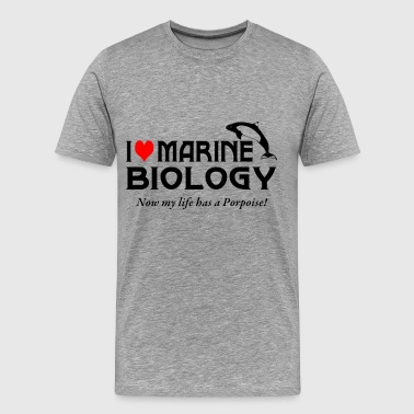 Love My Marine I Love Marine Biology - Men's Premium T-Shirt