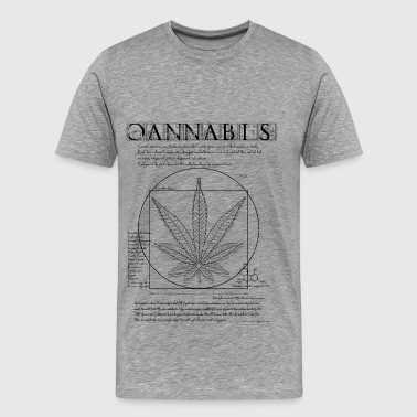 Vitruvian Cannabis - Men's Premium T-Shirt