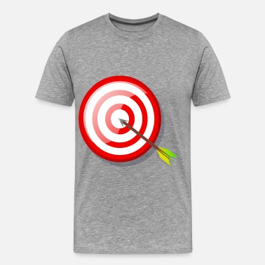 Arrow target with arrow - Men's Premium T-Shirt