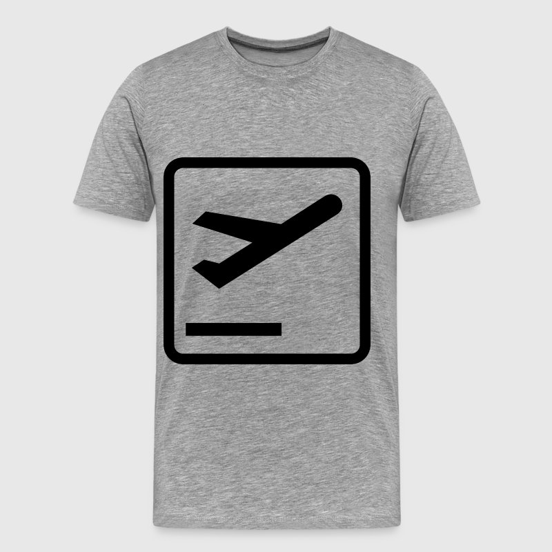 Departures Pictogram - Men's Premium T-Shirt