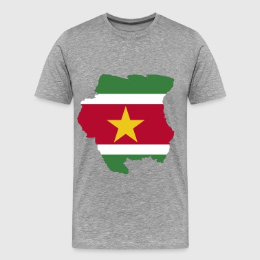 Suriname Map Flag - Men's Premium T-Shirt
