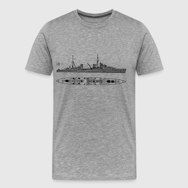 Arethusa Battleship - Men's Premium T-Shirt