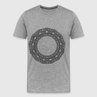 Interlock Interlocking Geometric Design 28 - Men's Premium T-Shirt