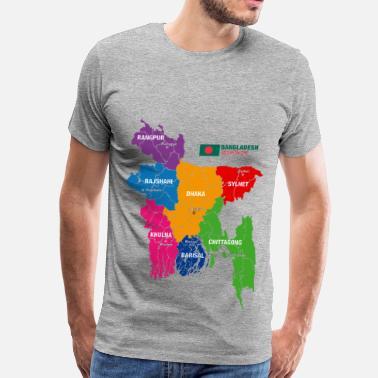 92eb07f699c97f Bangladesh Bangladesh Political Map - Men's Premium T-Shirt