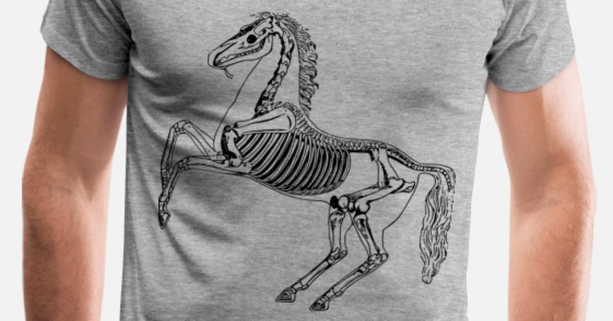 5d69a78308c0 Horse skeleton Men's Premium T-Shirt | Spreadshirt