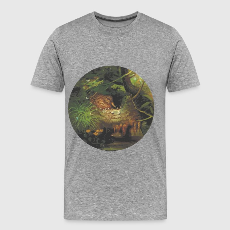 Circular wild duck drawing - Men's Premium T-Shirt