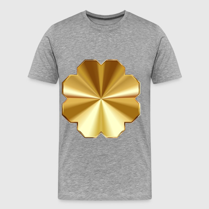 Gold Plaque No Background - Men's Premium T-Shirt