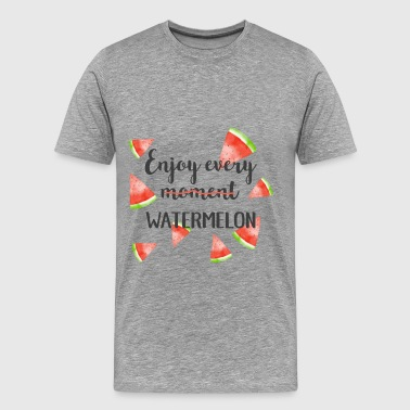 Watermelon - Enjoy every (moment) watermelon - Men's Premium T-Shirt