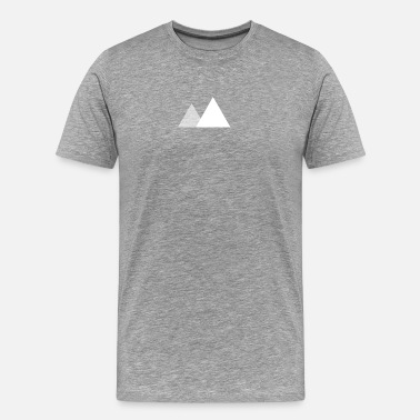 Minimalist Two Mountains - Men's Premium T-Shirt