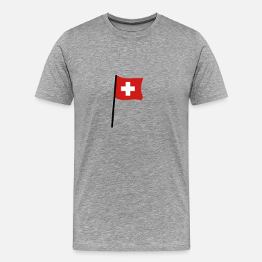 Flag Swiss Swiss flag - Men's Premium T-Shirt