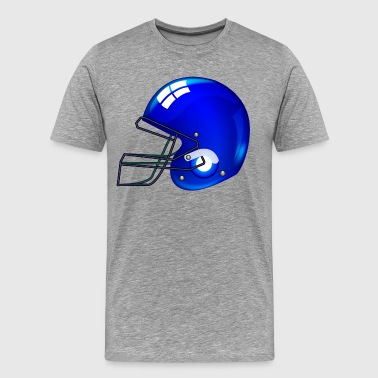 American blue football gridiron helmets - Men's Premium T-Shirt