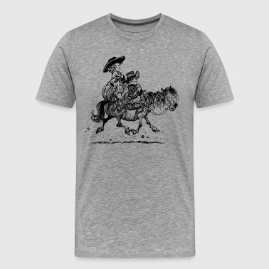 Cowboy Thelwell Two Cowboys With Their Horse - Men's Premium T-Shirt