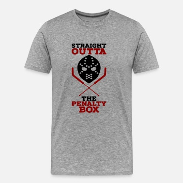 Depth Straight Outta The Penalty Box - Men's Premium T-Shirt