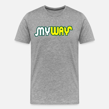Subway My Way - Men's Premium T-Shirt