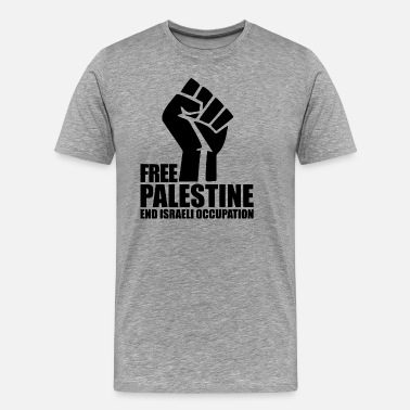 Free Palestine End Israeli Occupation Free Palestine End Israel - Men's Premium T-Shirt